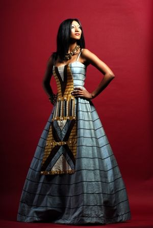 Inspired African wedding dress