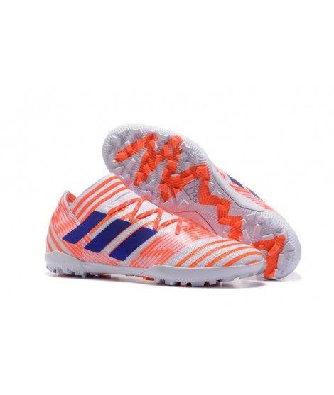 Nemeziz Messi 17.3 FG, Chaussures de Football Homme, Multicolore (FTWR White/Solar Orange/Clear Grey), 46 EUadidas