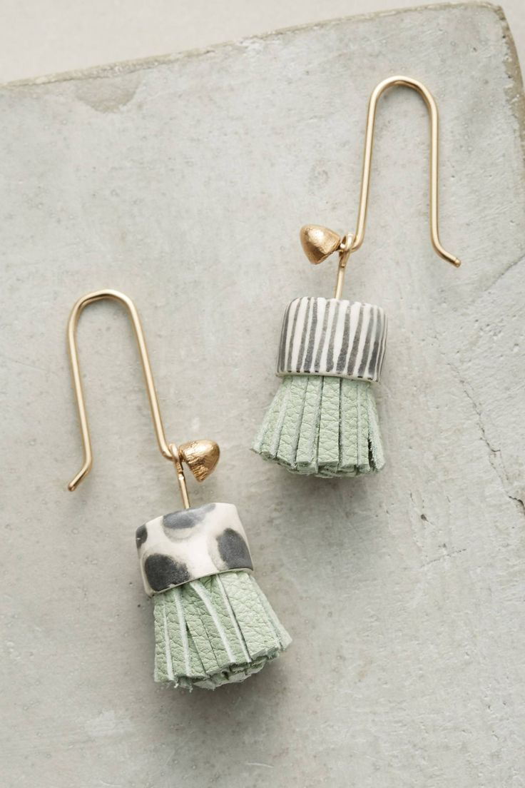Slide View: 1: Alma Mini Tassel Earrings