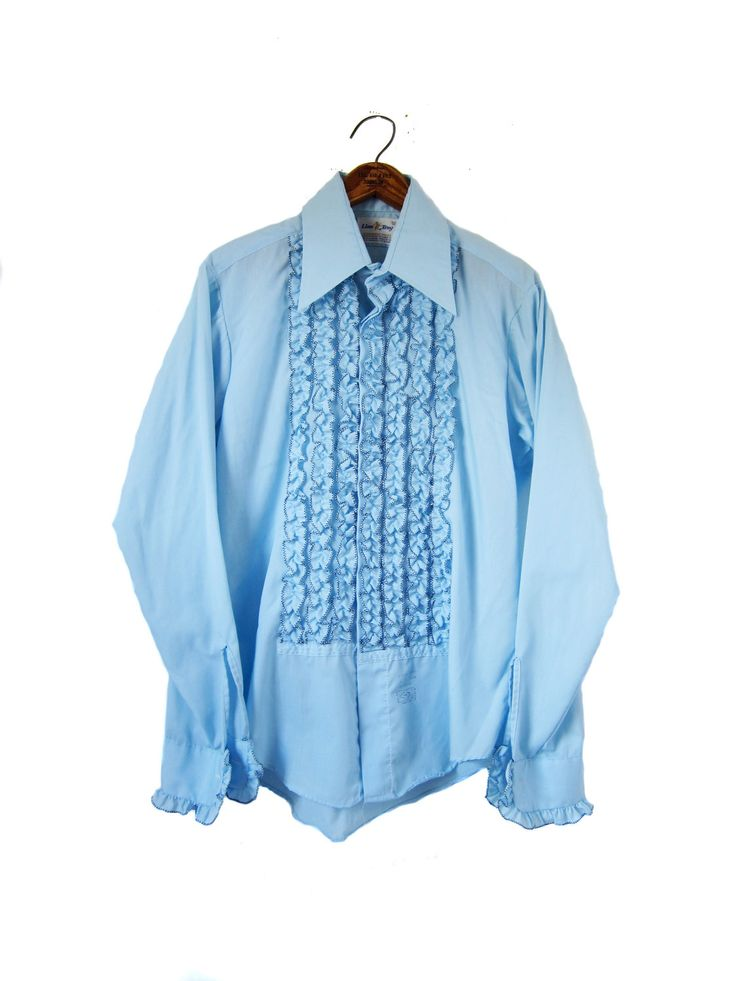 100 best cm 1 men 39 s vintage clothing and fashion for Powder blue tuxedo shirt