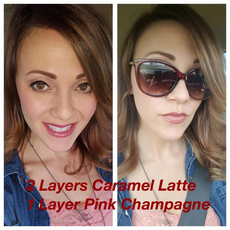 LipSense Caramel Latte and Pink Champagne Lip Coloration. You possibly can layer to create uni