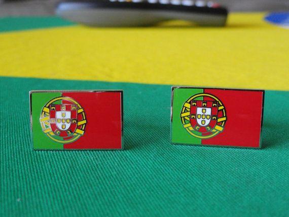Portuguese Flag Cufflinks by LoudCufflinks on Etsy, $22.00