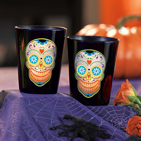 Skeleton Dance Votive Pair