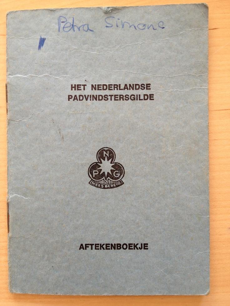 Mijn Scouting Padvinderij Aftekenboekje, jaren 70