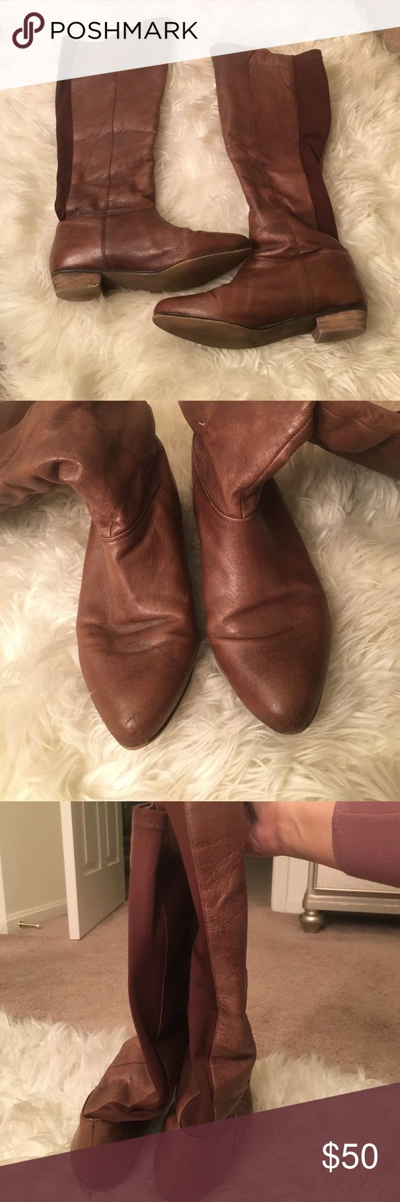 """Steve Madden """"Creation boots Like-new boots from Steve Madden. Some small watermarks on back as shoe as seen in picture. Barely worn. Perfect for the fall/winter! Steve Madden Shoes"""