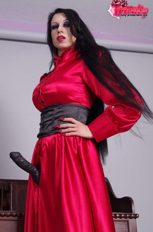 Remarkable, Red satin blouse busty lie
