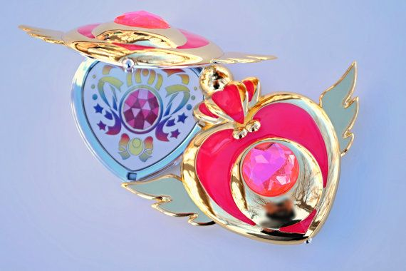 Sailor Moon Super S Crisis Heart Compact   Decal included with purchase. (Decal does not come attached for those that do not want it