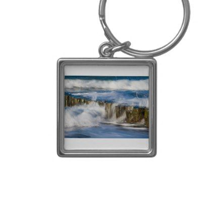 #Groynes and waves on the Baltic Sea coast Keychain - #travel #trip #journey #tour #voyage #vacationtrip #vaction #traveling #travelling #gifts #giftideas #idea