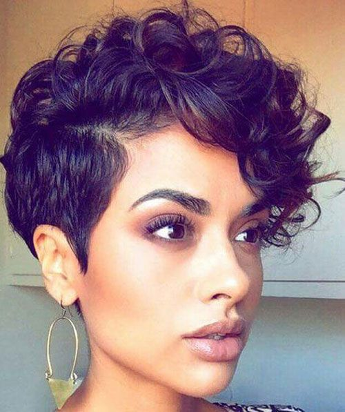 Natural Short Haircuts For Black Women Pixit Cut Hairstyles Bob Pixie Layered Edgy