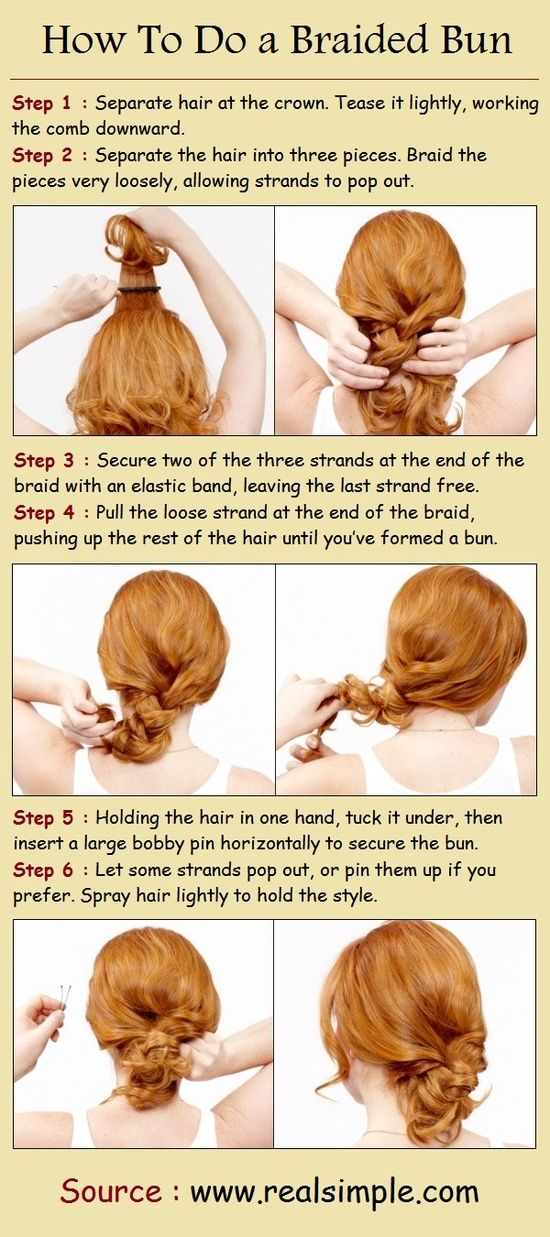 Pinterest Hairstyles: How To Do a Braided Bun