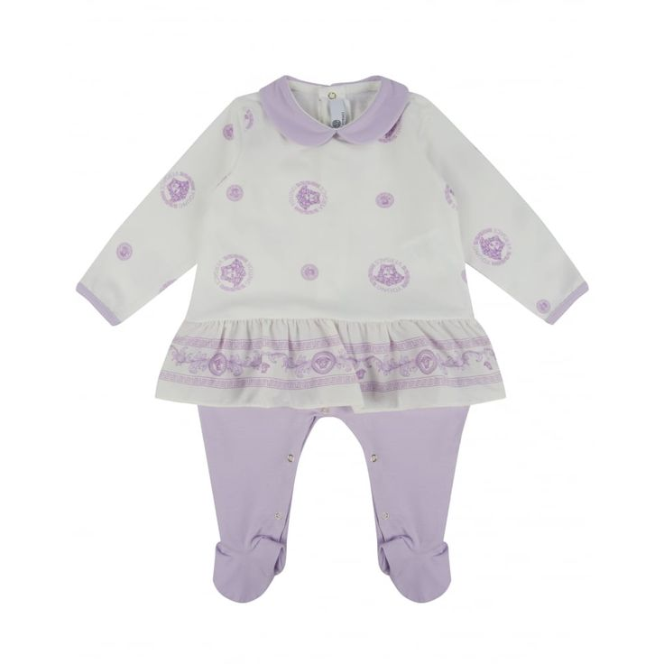 Young Versace Baby Girls Baby Grow New Childrenswear Autumn/Winter