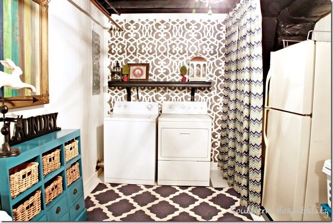 Charming Unfinished Basement Laundry Room Ideas