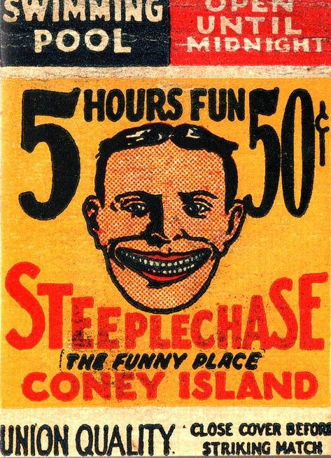 Vintage Coney Island matchbook cover..