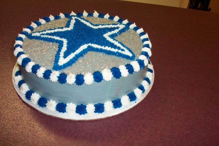 Dallas Cowboys grooms cake for Matt