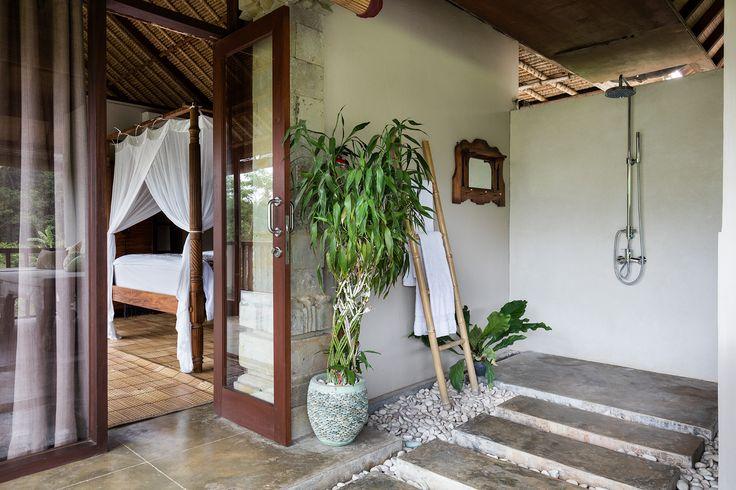 The beautiful en-suite bathroom provides the quintessential Balinese indoor/outdoor experience.