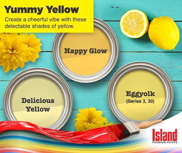 Stay as vibrant as yellow - check out these colors from Island Paints.