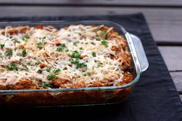 quinoa and chicken parm by Elly Says Opa, via Flickr