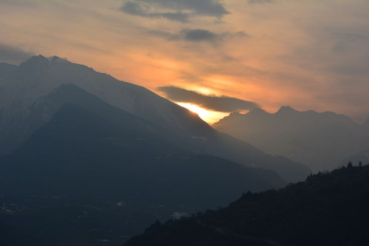 Sunset over the Valley - St.Pierre, Valle d'Aosta