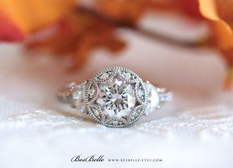 2.0 ct.tw Art Deco bague de fiançailles-Brilliant Cut par Besbelle