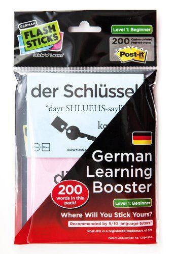 FlashSticks German Beginner Level 1 Printed Post-it Notes: Amazon.co.uk: Office Products