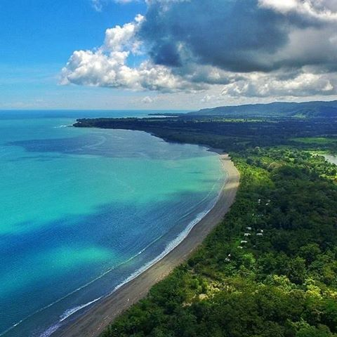 The Osa Peninsula in Costa Rica is stunning. This is a view of Playa Platanares, part of the Golfo Dolce with Corcovado National Park in the background