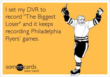 I set my DVR to record The Biggest Loser and it keeps recording Philadelphia Flyers games.
