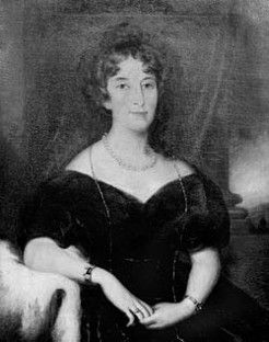 """Elizabeth Macarthur (1766-1850), by unknown artist Wife of John MacArthur, she experienced great happiness in the new colony.."""" ..it is now Spring and the eye is delighted with the most beautiful variegated landscape...the greater part of the country is like an English park."""""""