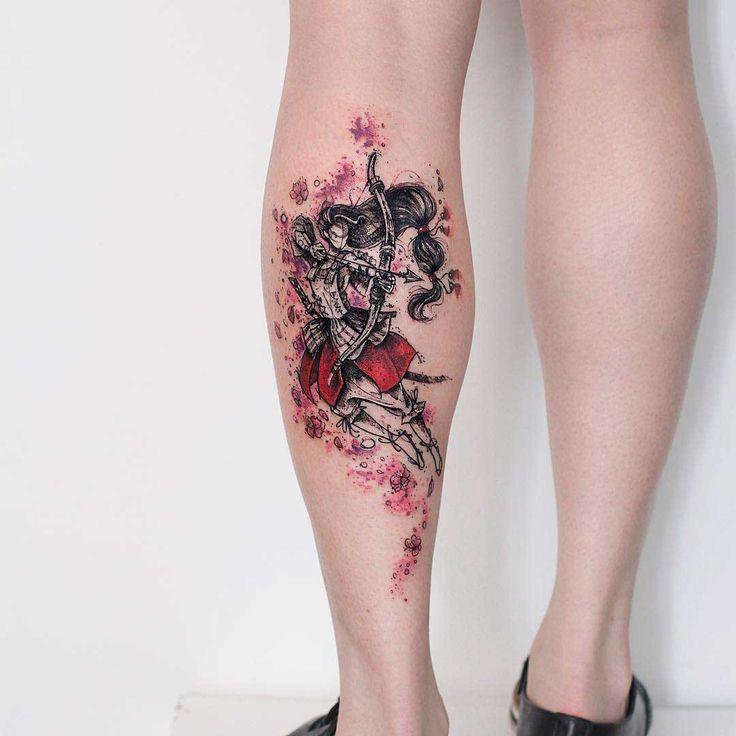 calf tattoo archer