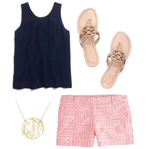 Tory Burch Sandals and J. Crew Shorts. Totally love these!! Some of the best shorts I have