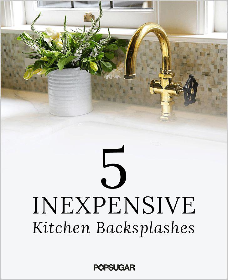 5 Inexpensive Items That Make For Gorgeous Kitchen: inexpensive kitchen backsplash