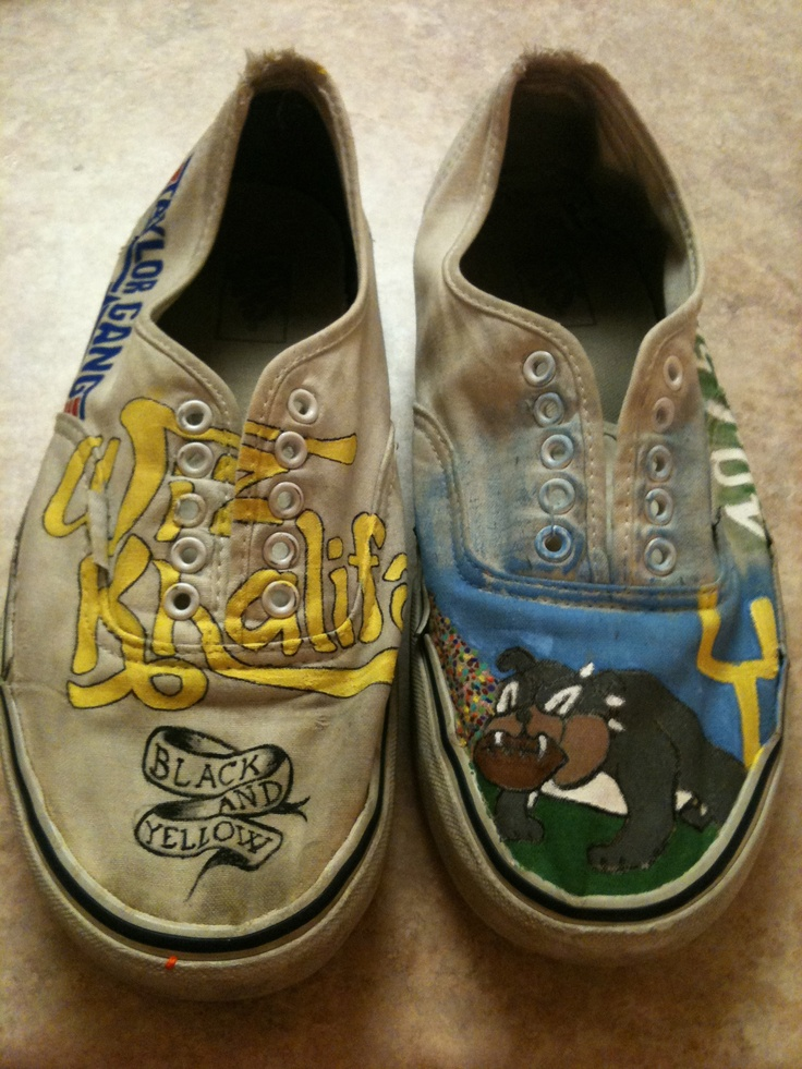 Redlands football and Wiz Khalifa themed Vans | In my ...