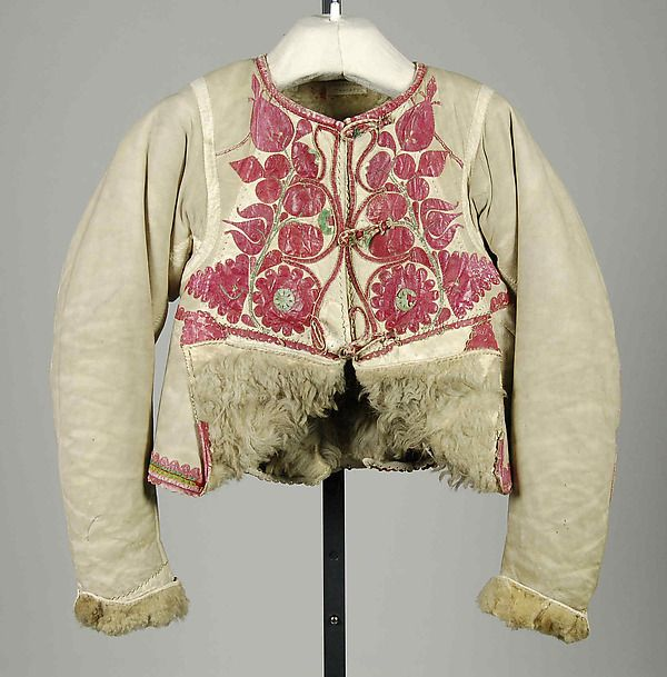 Jacket Date: 1840–70 Culture: Hungarian Medium: Leather, wool, silk