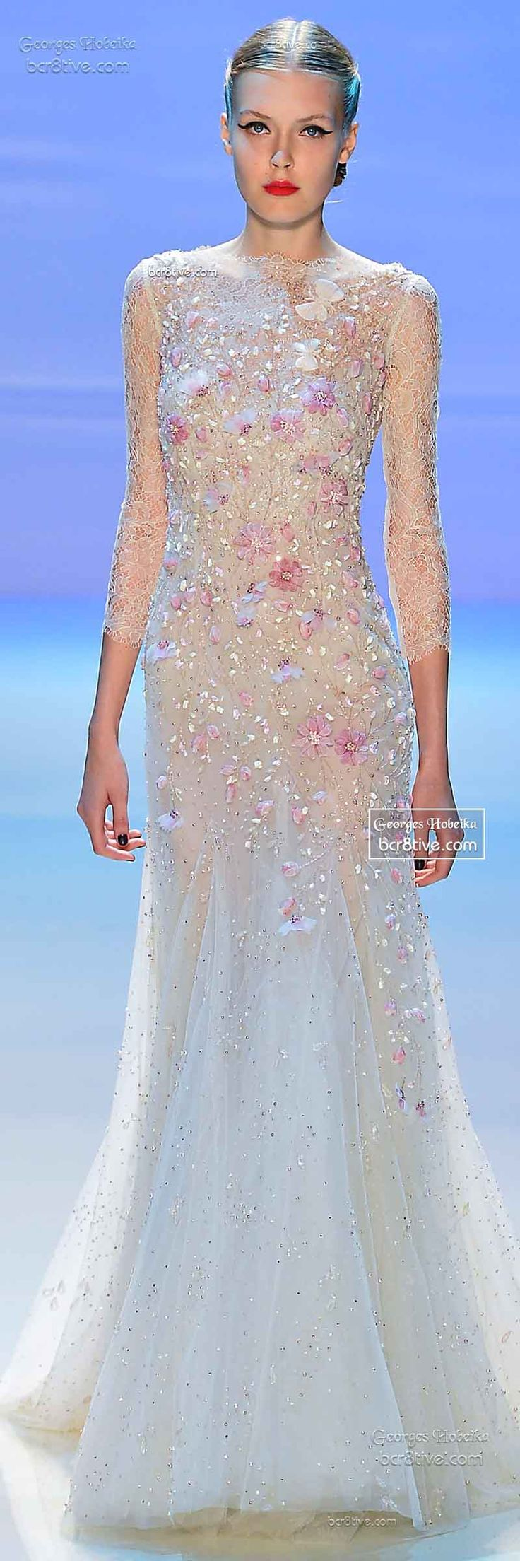 Monet's Midnight Stroll by Georges Hobeika FW 2014-15 Couture