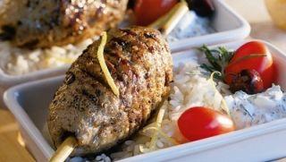 Keftas épicés au veau de grain et aux olives noires