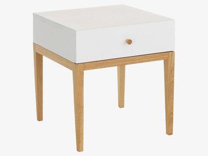 TATSUMA WHITES Wood White 1 drawer bedside unit - HabitatUK