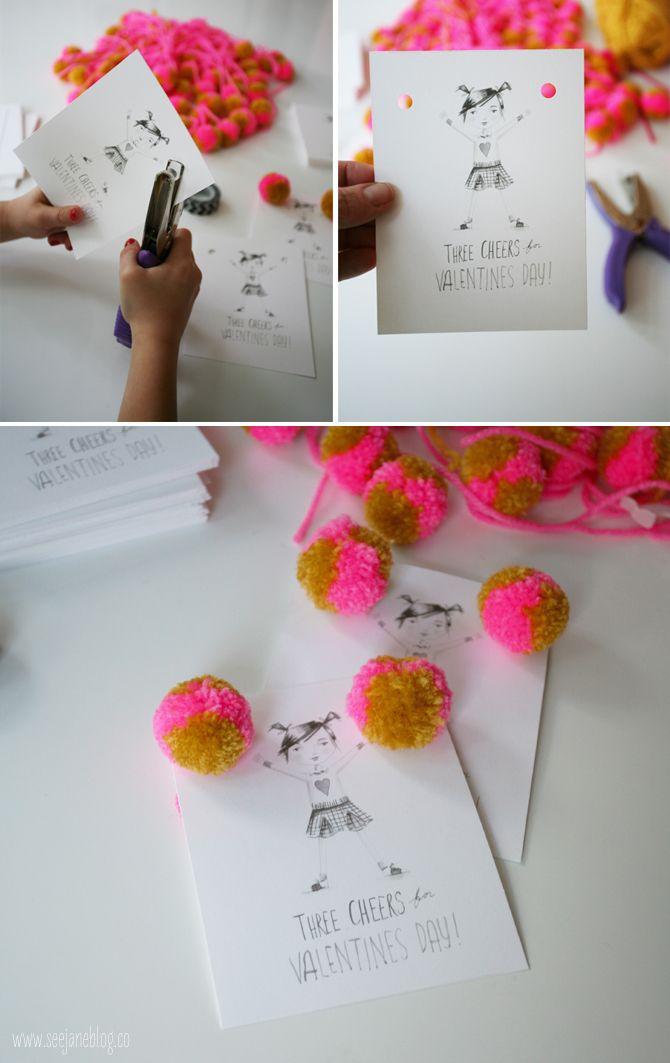 DIY-cheerleader-valentines-with-free-printable-via-seejaneblog  buddy cards?
