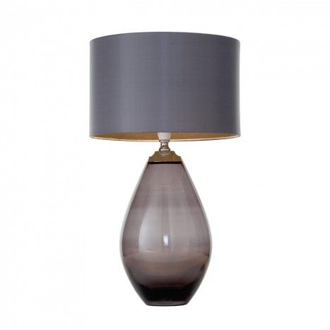 Nivian Glass Table Lamp - Smoke Grey from Litecraft