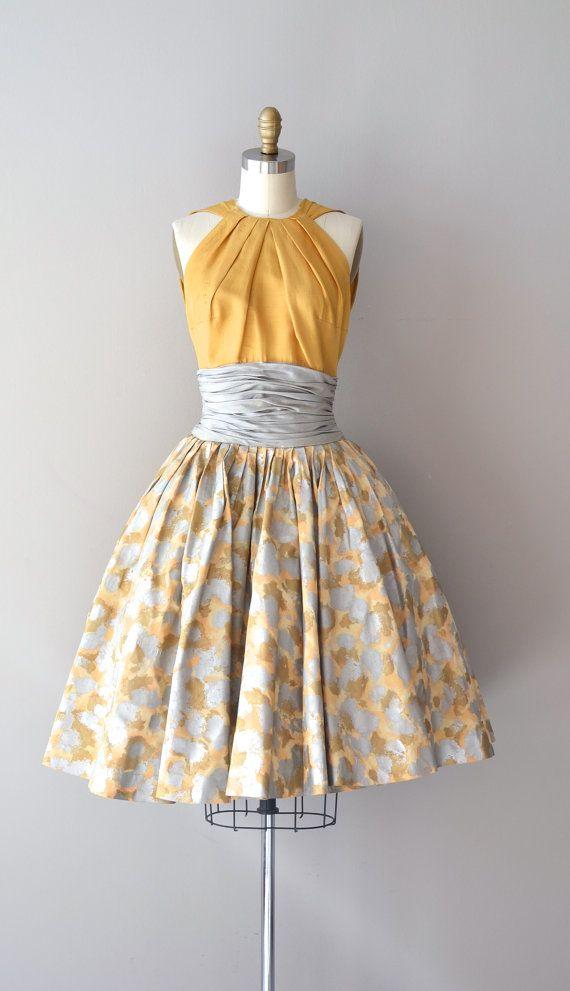1950s dress / silk 50s dress / Estévez for Grenelle by DearGolden #vintage #fashion