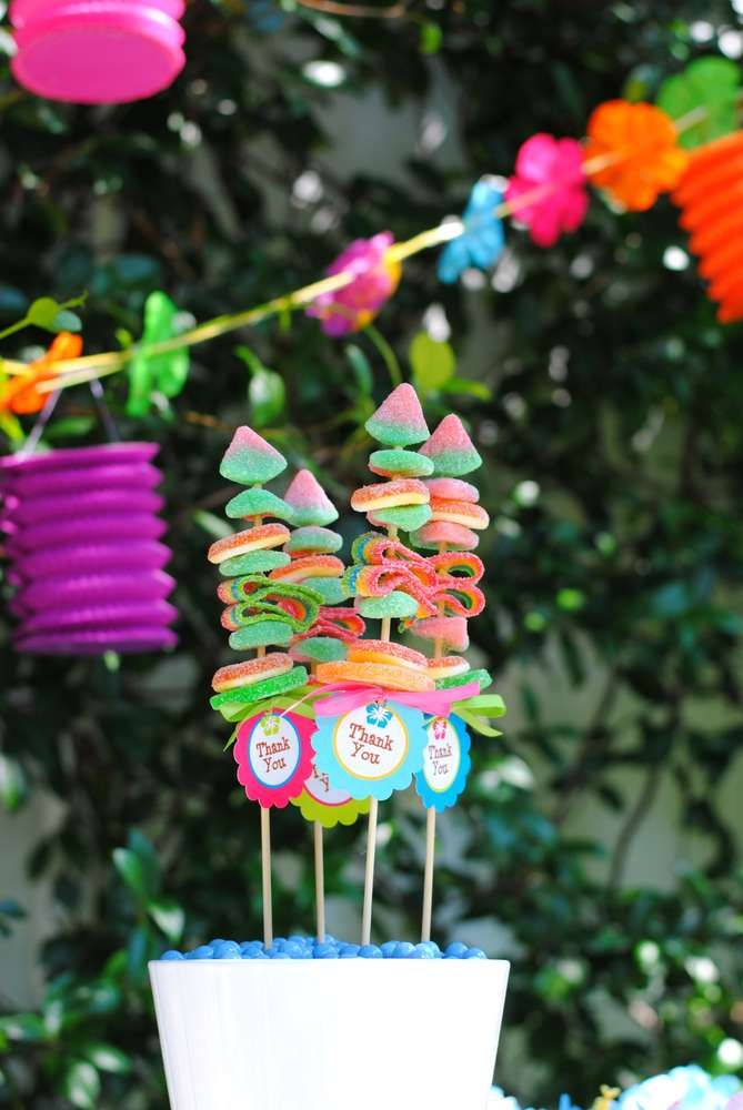 Luau Anniversary (Wedding) Party Ideas | Photo 28 of 31 | Catch My Party