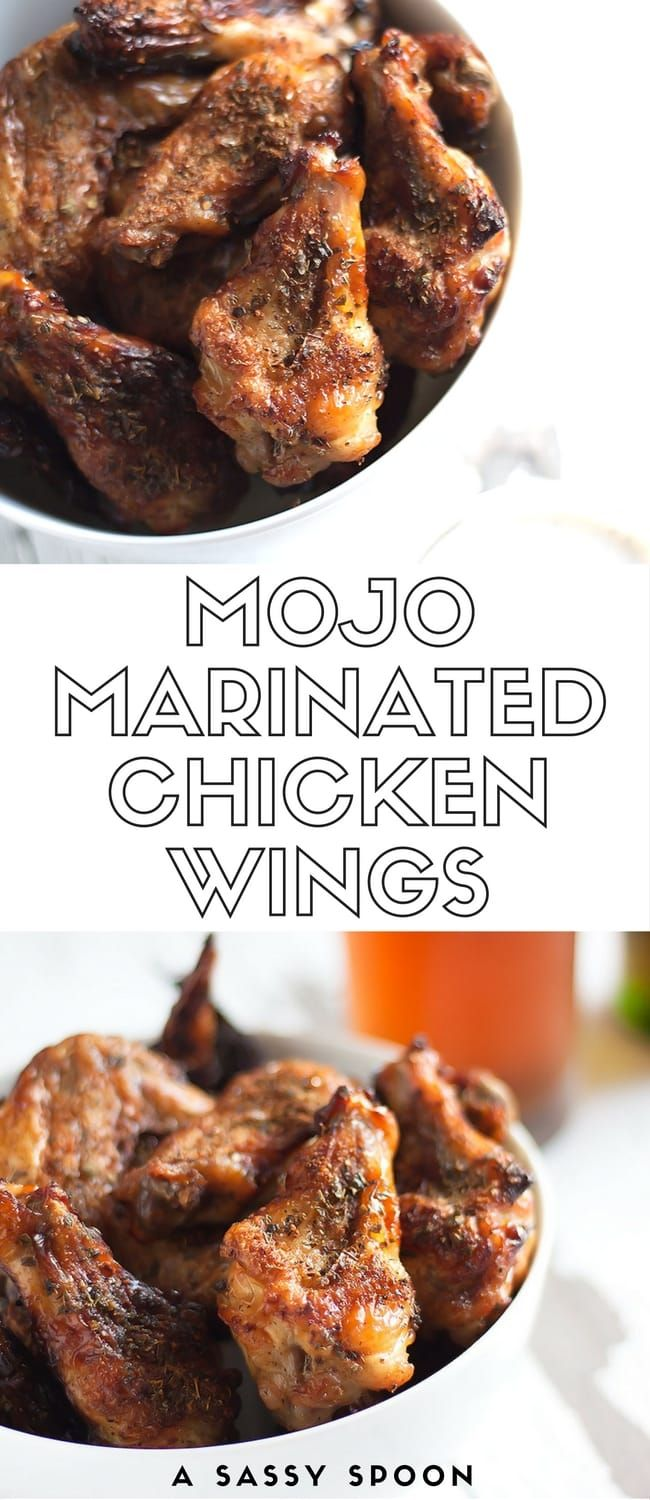 Chicken wings marinated in mojo (garlic citrus marinade) and spices then baked to crispy perfection! Your game day with have a little Cuban kick! via @asassyspoon