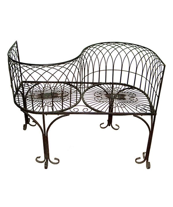 Look at this Tête–à–Tête Garden Kissing Bench on #zulily today!
