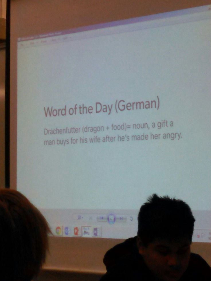 The German language nails it.