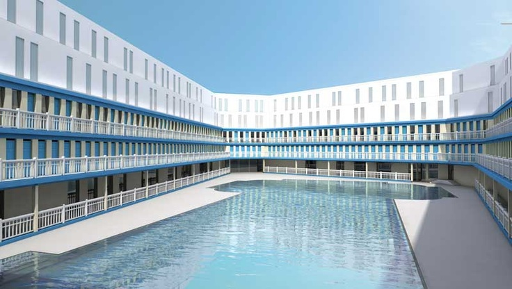 Molitor swimming pool in Paris (Piscine Molitor, Life of Pi)