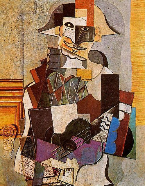 Pablo Picasso, Harlequin. 1918 Art Picasso portraits