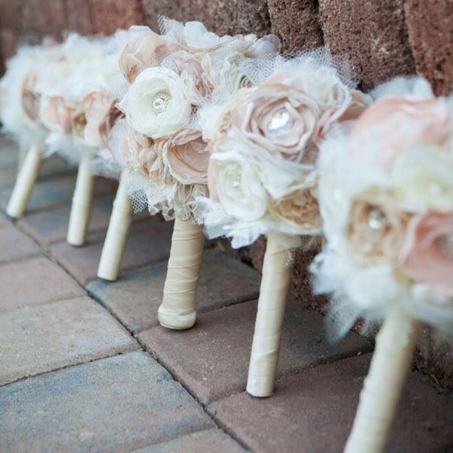 Beautiful fake flowers! Totally want to do something like this! They'll last forever!!!