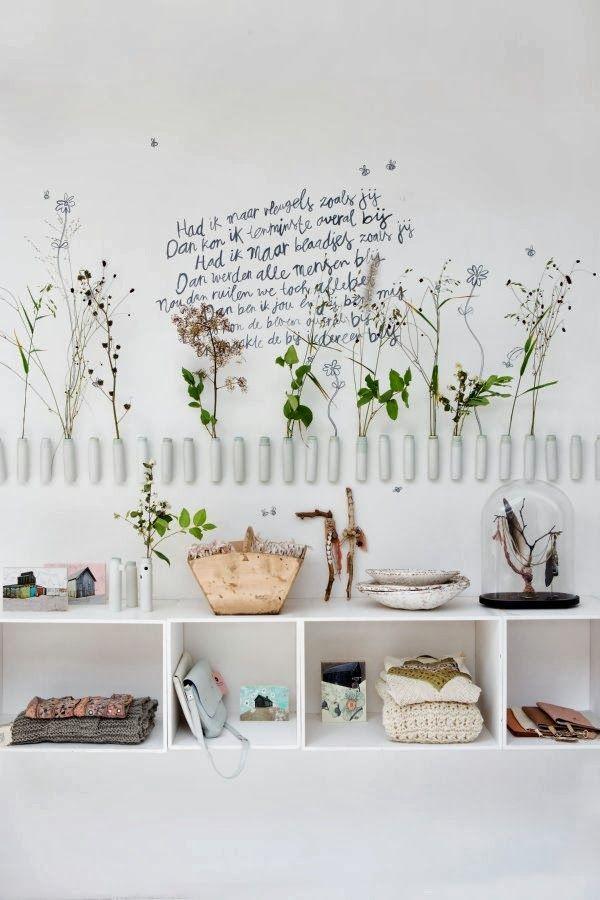 accessoires en planten aan de muur - Makeover.nl