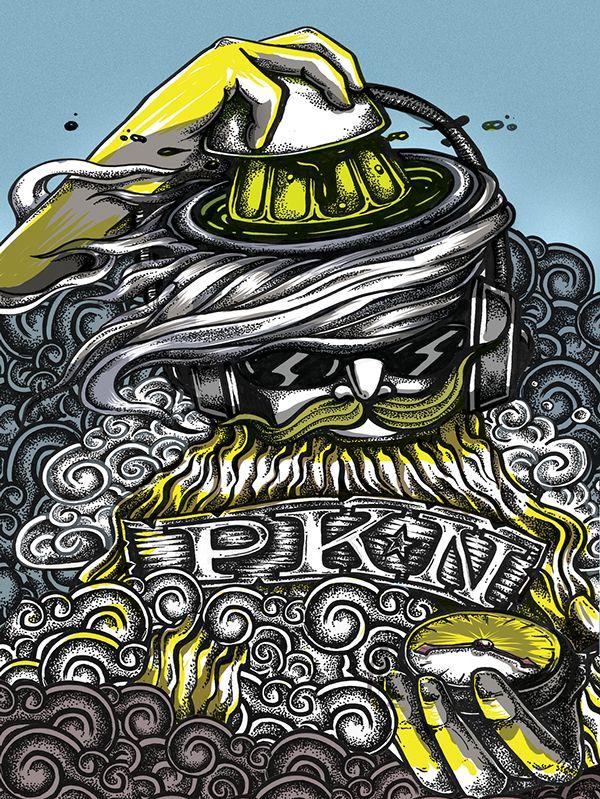 poster illustration for PECHAKUCHA VALPARAÍSO, Chile. by @kartess