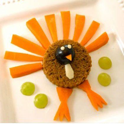 Carrot and Pumpkin Turkey Snack