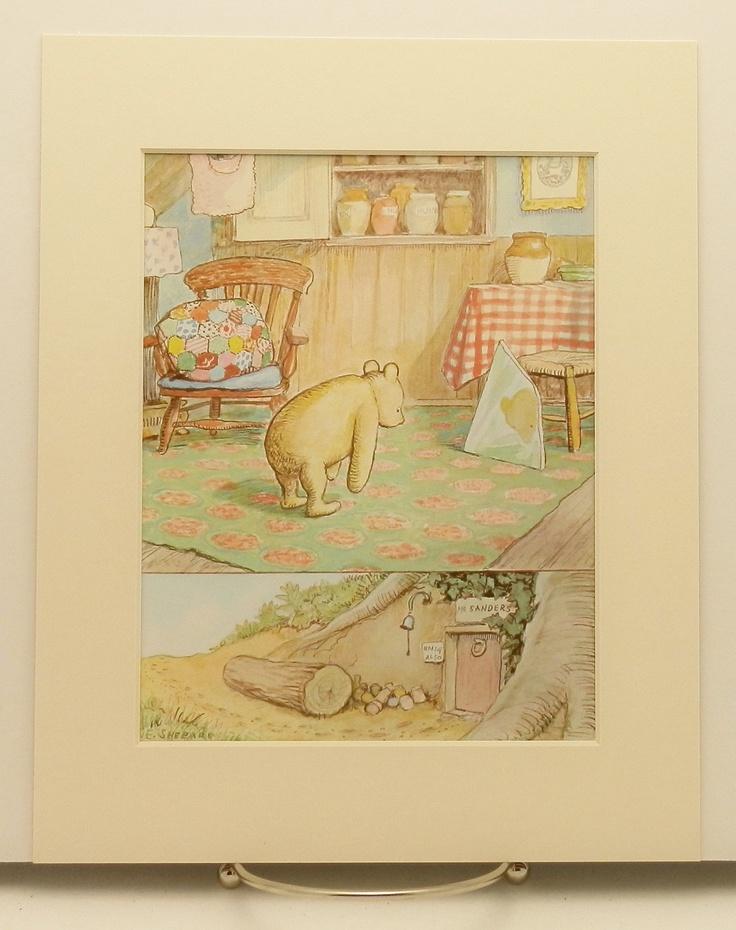 114 best vintage pooh images on pinterest eeyore disney for Vintage childrens room decor