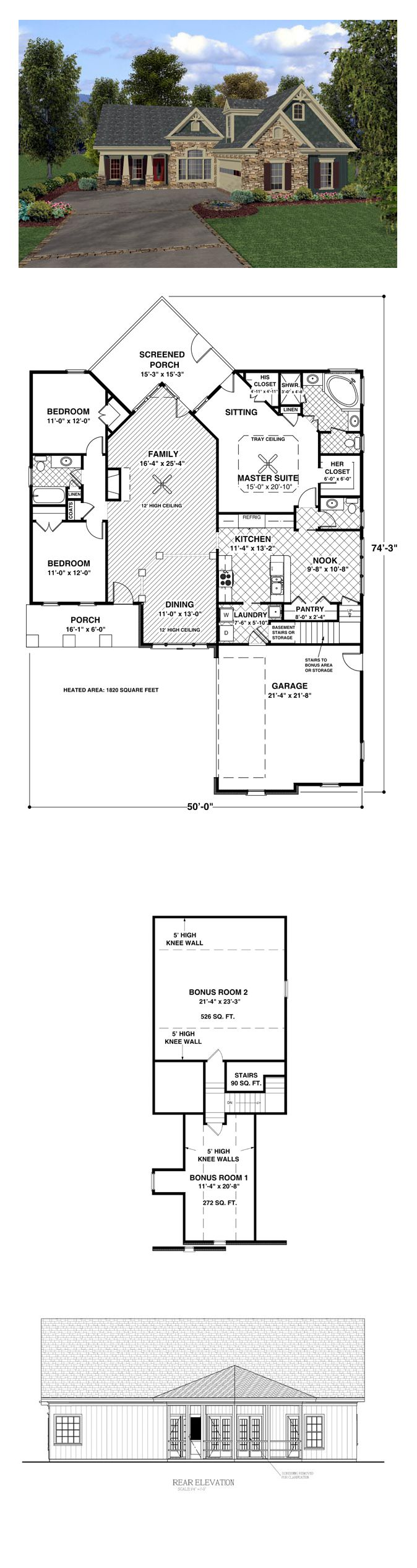 17 best bungalow house plans images on pinterest cool house bungalow style cool house plan id chp 36990 total living area 1831